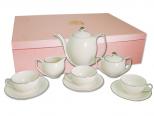 1690 Сервиз чайный 15 пр. Снегурочка (чашка - 200мл, блюдце - 15,5см, сахарница - 350мл, молочник - 260мл, чайник - 1,25л)