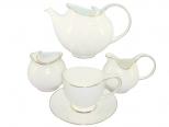 1772 Сервиз чайный 15пр. Лебедь  (чашка - 240мл, блюдце - 14,5см, сахарница - 360мл, молочник - 260мл, чайник - 1,2л)