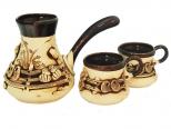 50103 Кофейный набор (Турка большая 700мл и 2 чашки 220мл)