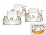 1705 Сервиз чайный 12пр. Золотая лилия (чашка-230мл, блюдце-15см)