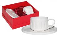 2021 Набор чайный 2 пр. Плетеный орнамент (чашка 230мл, блюдце 16,5см)