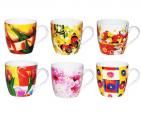 2184 Чашка Цветы 330мл