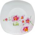 30800 Тарелка 8 квадрат орхидея