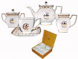1775 Сервиз чайный 15пр. золотая лилия (чашка-230мл, блюдце-15см)