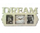 03-203 Часы-фоторамка настенный деревянный Мечта
