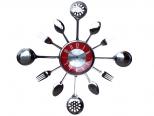 01-056 Часы настенные Столовые Приборы 37*37*4.5 см