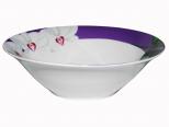 3077-12 Салатник 6 'Белая Орхидея (фиолетовый ободок) (48)
