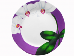 308-12 Тарелка 7,5 Орхидея (фиолетовый ободок) (48)