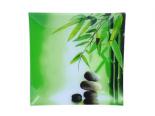 306 Тарелка квадр. 20 см (Зеленый бамбук)