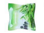 378 Салатник прямоуг. Елегант мал. (15*15*5см) (Зеленый бамбук)