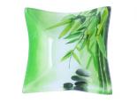 384 Салатник квадратн.мал. (15,5*15,5*5см) (Зеленый бамбук)