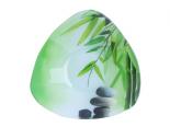 396 Салатник треугольный маленький (16.5*16.5*5.5см) (Зеленый бамбук)