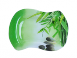 3815 Тарелка 'Волна 2' 28*21 см (Зеленый бамбук)