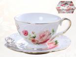 2335 Чашка с блюдцем Бант (240мл, бл.15см)