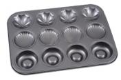 30217 Форма для выпечки кексов Ассорти 36*27см,ячейки 35мл,40мл,40мл