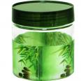 614 Емкость для сыпучих продуктов 0,9 л. (Зеленый бамбук)