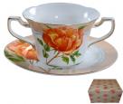 7170 Набор Бульонницы 350мл с блюдцем Китайская роза