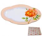 9707 Блюдо ов. 14 'Китайская роза