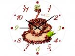 01-129 Часы настен. серия Кухня Кофейные стекло/кругл. 28см