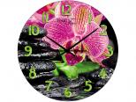 01-153 Часы настен.серия Кухня Цветочная гармония стекло/кругл. 28 см