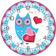 05-403/18 Часы настенные Совиная мечта Детская серия МДФ круг 25см