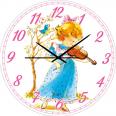 05-403/8 Часы настенные Скрипачка Детская серия МДФ круг 25см
