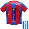 05-015 Часы настенный Детские Футбольная форма кварц.пластик 33*5*28 см