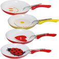 80118 Сковородка с керамическим покрытием,с лопаткой 24см