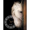 06-206 Часы настенные на холсте Лошади 50*30см