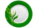 3081 Тарелка 9 Бамбук/зеленый ободок (24)
