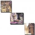 06-306 Часы настенные на холсте 3х-секцион Летний пикник (30*30см 1секция)