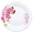 30001-1462 Тарелка 8 Красная орхидея
