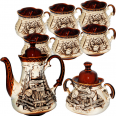 50102 Набор чайный 8 предметов (Чайник750мл, сахарница300мл,6 чашек270мл) Сонет