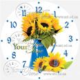 01-146 Часы настенные серия Кухня Цветок стекло/кругл. 28см