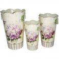 555-031-1 Декоративная металлическая ваза 17*28см Гортензия