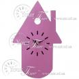 05-201 Часы настенные Домик детские МДФ 25 * 4,5 * 8,5 см