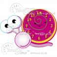 05-214 Часы настенные Улитка детские МДФ 32,5 * 4,5 * 23см