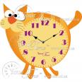 05-228 Часы настенные Кот детские МДФ 29,5 * 4,5 * 30см