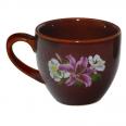 50199 Чашка Одесса коричневая с деколью 220мл