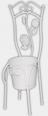 777-035 Декоративное кашпо-стульчик 45 см, белый