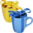 4162-2 Чашка желто-голубой Микс 400мл