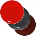 3021-4 Тарелка 83 цвета Микс белый ободок