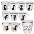 2178-1 Чашка 320мл Черная кошка