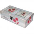 740-025 Шкатулка Весенние цветы мал. 29х15х8 см