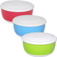 90826 Емкость для хранения продуктов с крышкой 15,5 * 7,5 / 0,86л 3 цвета Микс
