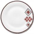 30002-004 Тарелка 9 'Вышиванка красное и черное