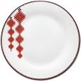 30002-005 Тарелка 9 'Вышиванка красный ромб