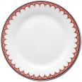 30001-005 Тарелка 8 'Вышиванка красный ромб