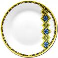 30002-006 Тарелка 9 'Вышиванка желто-голубой ромб