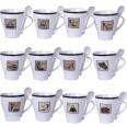2063 Чашка с ложкой 340мл Coffe House